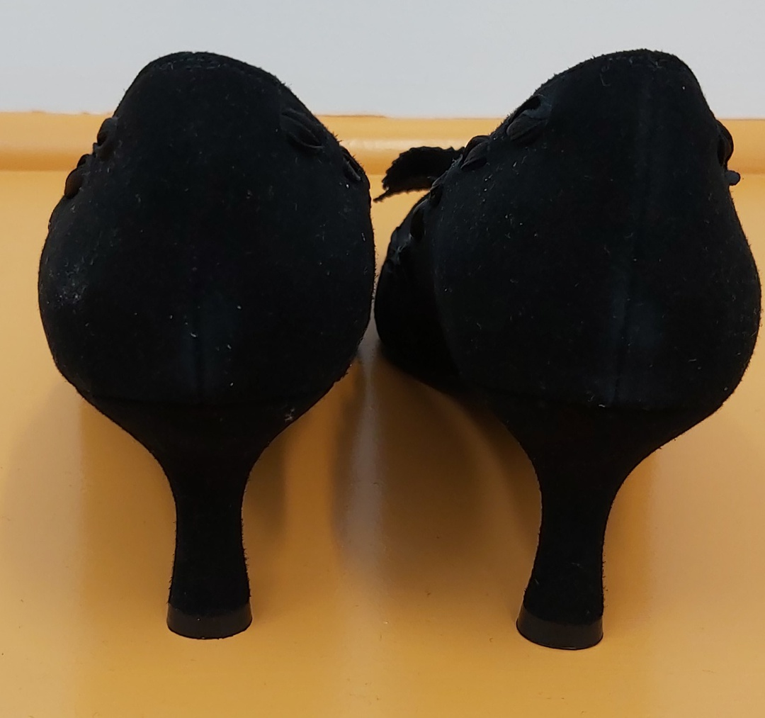 Molly N Black Suede Shoes image 1