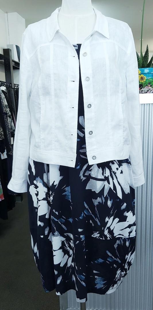 Taking Shape Blue Print Dress image 2