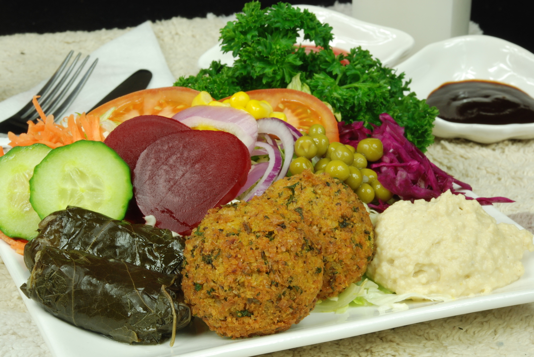 Falafel On salad image 0