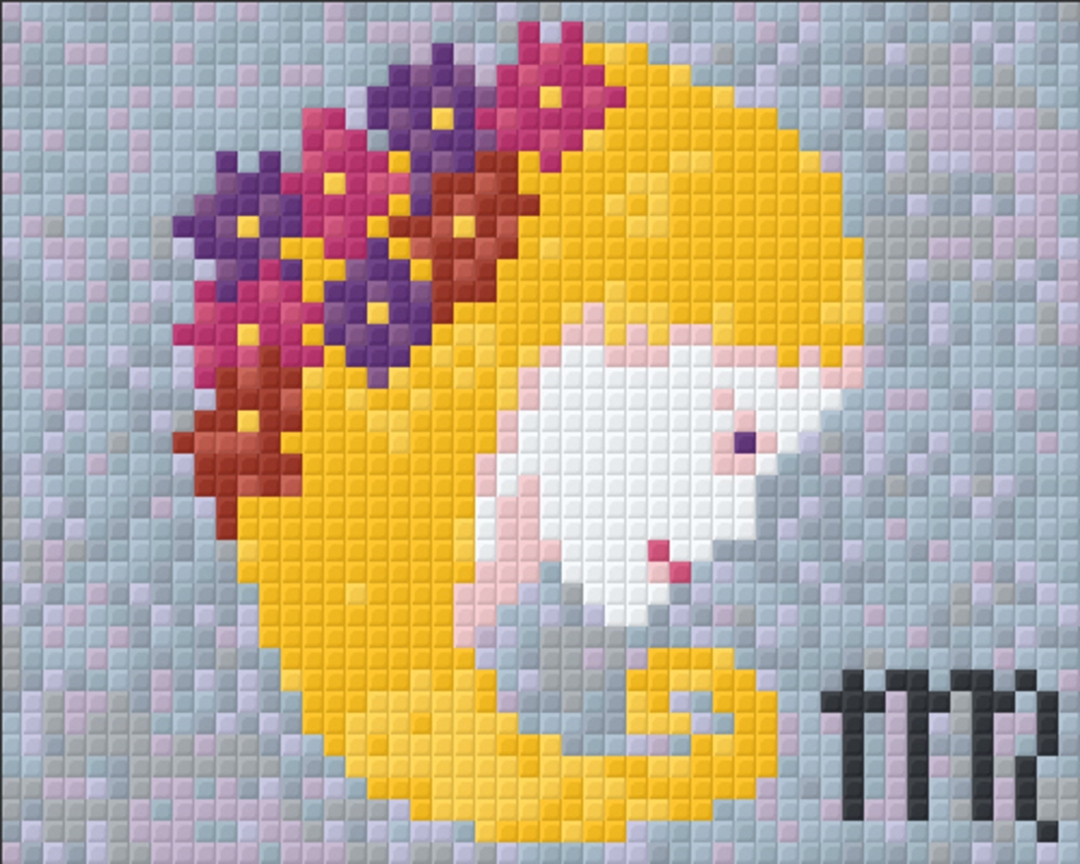 Virgo Zodiac Sign One [1] Baseplate PixelHobby Mini-mosaic Art Kits image 0
