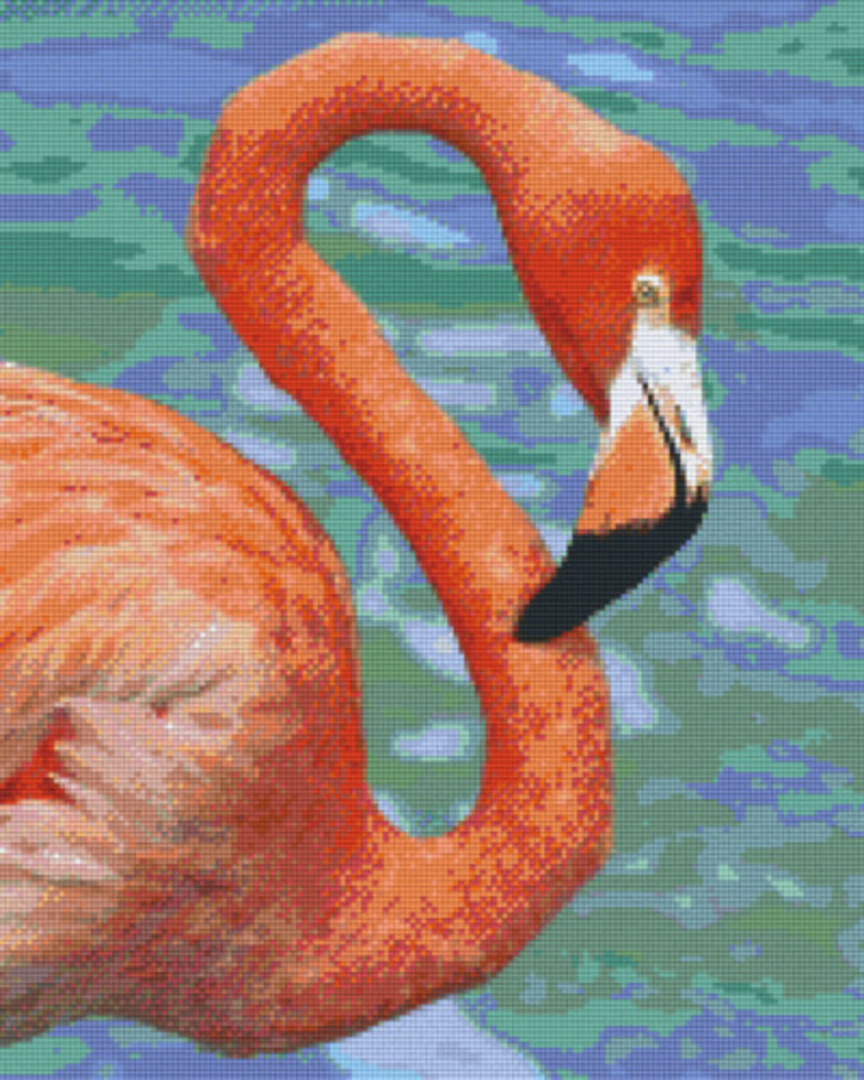 Flamingo Sixteen [16] Baseplate PixelHobby Mini-mosaic Art Kit image 0