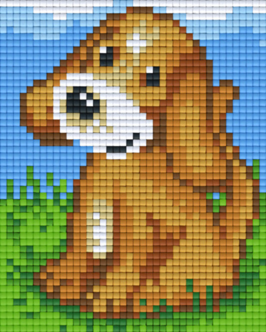 Puppy One [1] Baseplate PixelHobby Mini-mosaic Art Kits image 0