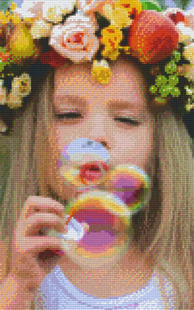 Blowing Bubbles Eight [8] Baseplate PixelHobby Mini-mosaic Art Kits image 0