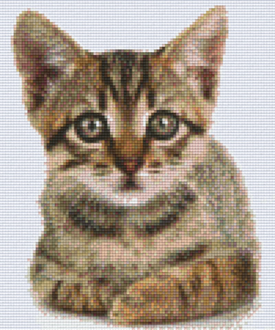 Kitten 2 Six [6] Baseplate PixleHobby Mini-mosaic Art Kits image 0