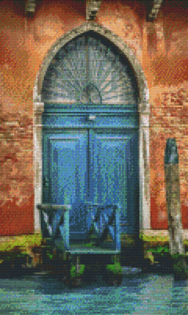 Door Twelve [12] Baseplate PixelHobby Mini-mosaic Art Kits image 0