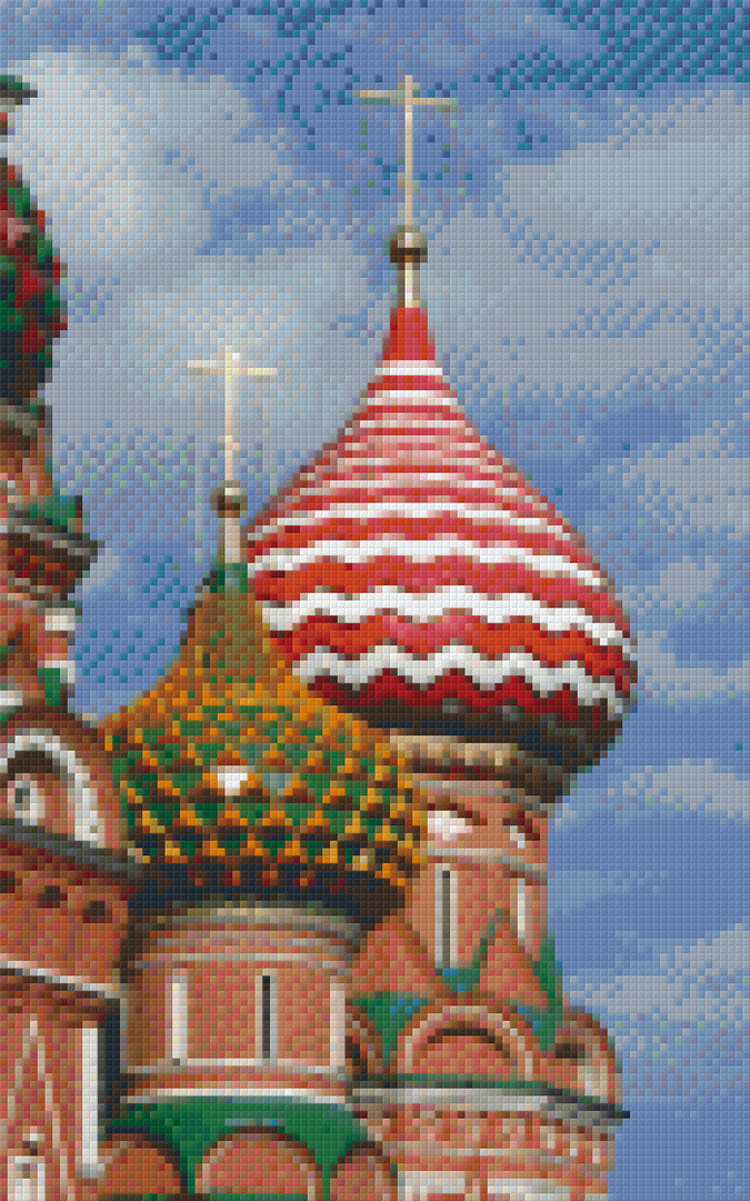 Moscow Eight [8] Baseplate PixelHobby Mini-mosaic Art Kits image 0