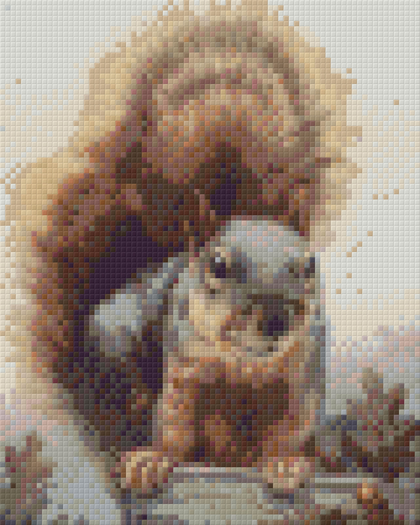 Squirrel Four [4] Baseplate PixelHobby Mini-mosaic Art Kit image 0