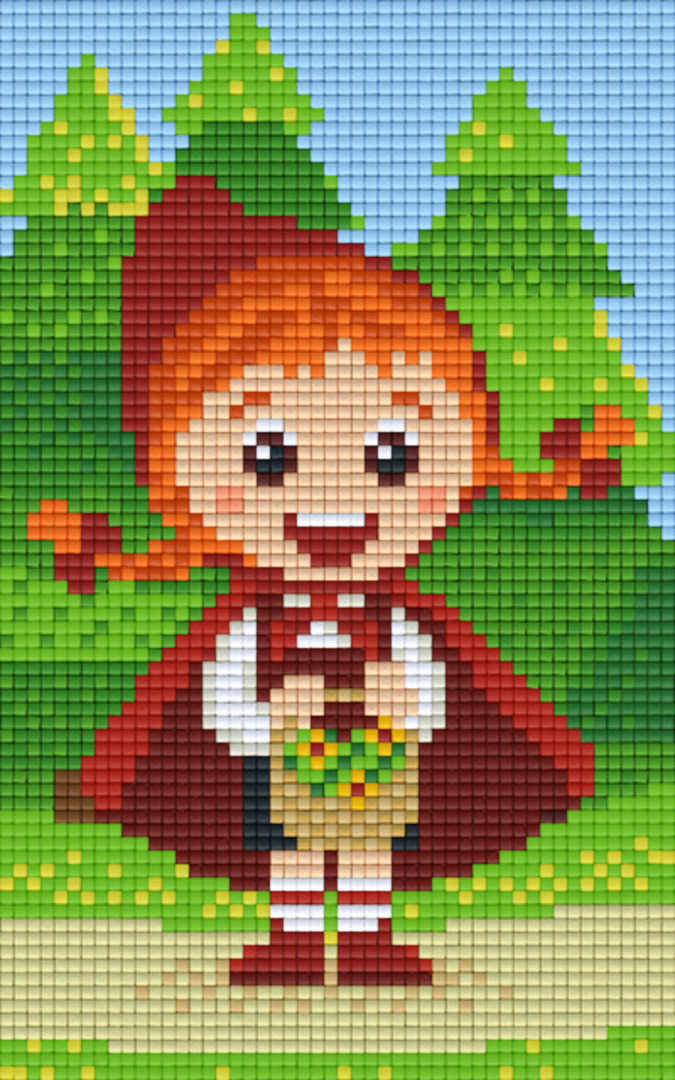 Little Red Riding Hood Two [2] Baseplate PixelHobby Mini-mosaic Art Kit image 0
