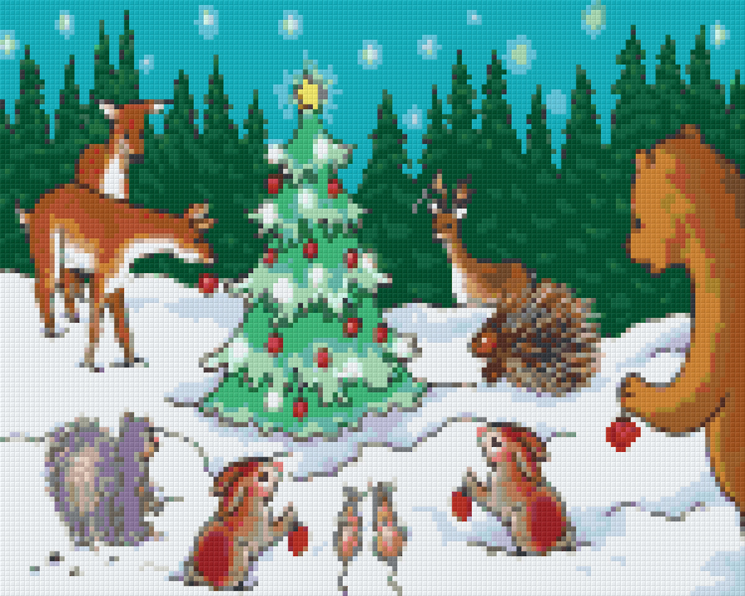 Christmas In The Woods Nine [9] Baseplate PixelHobby Mini-mosaic Art Kits image 0