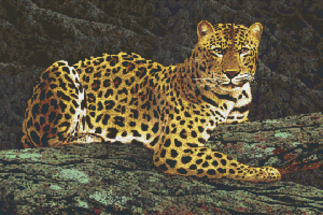Leopard Thirty [30] Baseplate PixelHobby Mini-mosaic Art Kits image 0