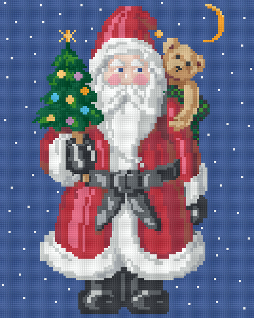 Jolly Santa Nine [9] Baseplate PixelHobby Mini-mosaic Art Kits image 0