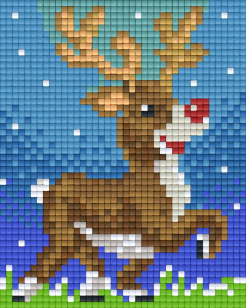 Reindeer One [1] Baseplate PixelHobby Mini-mosaic Art Kits image 0