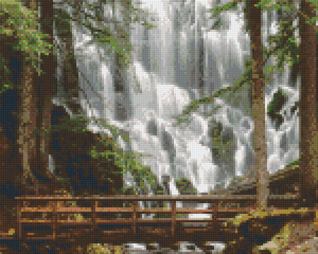 Waterfall Nine [9] Baseplate PixelHobby Mini-mosaic Art Kits image 0