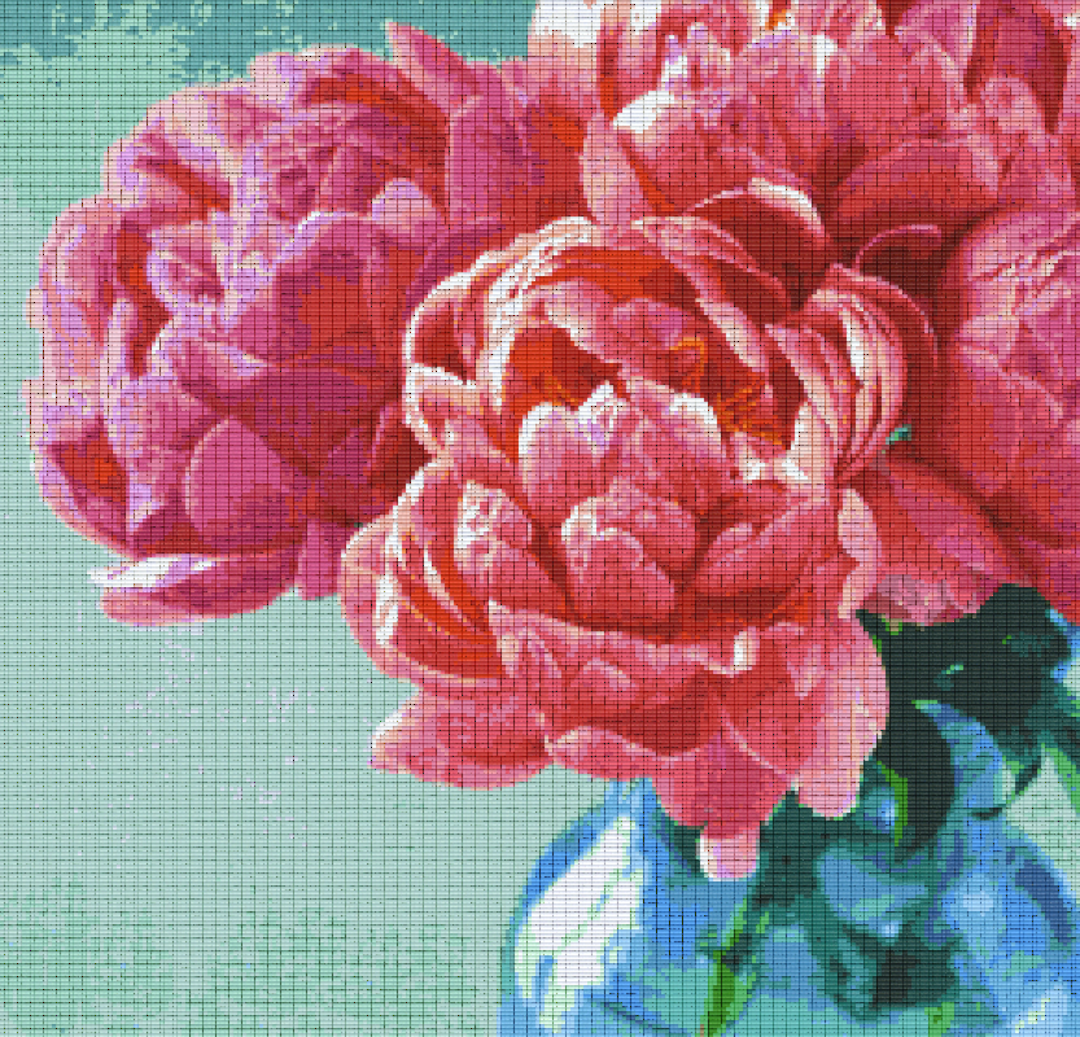 Rose Thirty [30] Baseplate PixelHobby Mini-mosaic Art Kits image 0