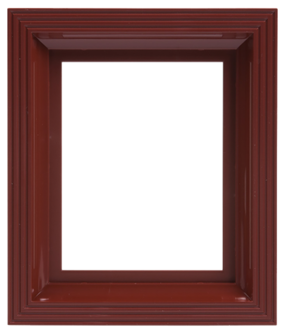 Plastic Frame For Single Baseplate Dark Brown [Mahogany] image 0