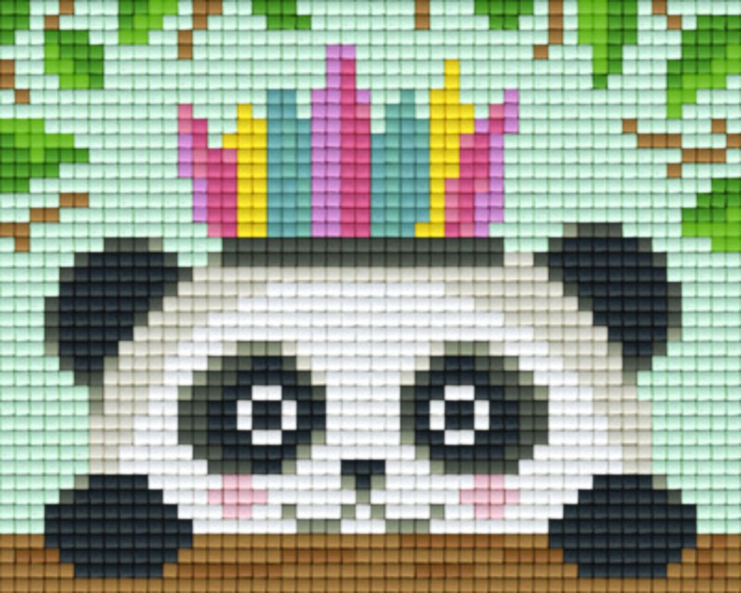 Cute Panda One [1] Baseplate PixelHobby Mini-mosaic Art Kits image 0