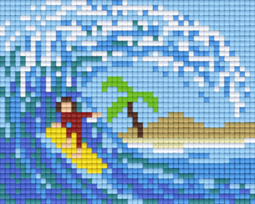 Surfing One [1] Baseplate PixelHobby Mini-mosaic Art Kits image 0