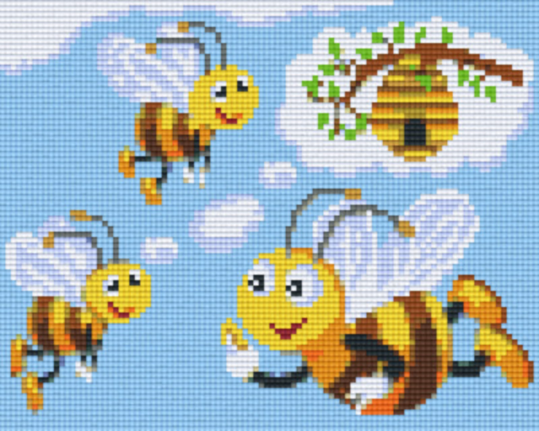 Bees Flying To Hive Four [4] Baseplatge PixelHobby Mini-mosaic Art Kits image 0