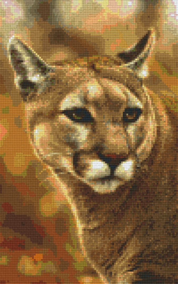 Bobcat Eight [8] Baseplate PixelHobby Mini-mosaic Art Kits image 0