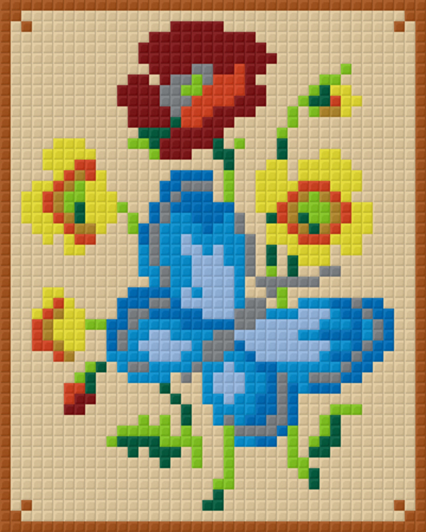 Blue Butterfly one [1] Baseplate PixelHobby Mini-mosaic Art Kits image 0