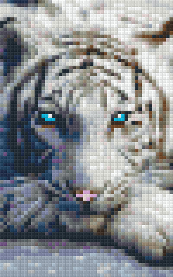 Piercing Eyes Two [2] Baseplate PixelHobby Mini-mosaic Art Kit image 0