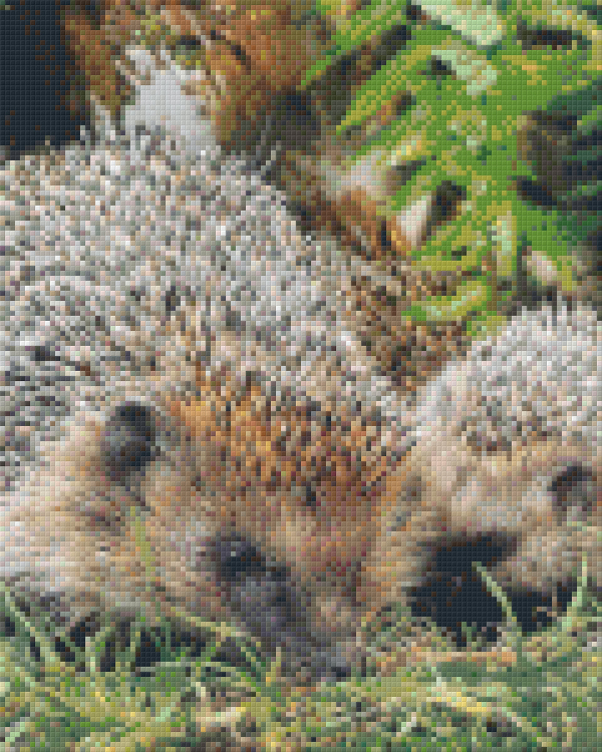 Hedgehogs Nine [9] Baseplate PixelHobby Mini-mosaic Art Kits image 0
