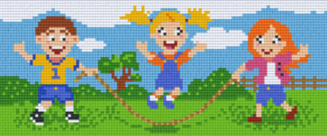 Rope Jumping Three [3] Baseplate PixelHobby Mini-mosaic Art Kits image 0
