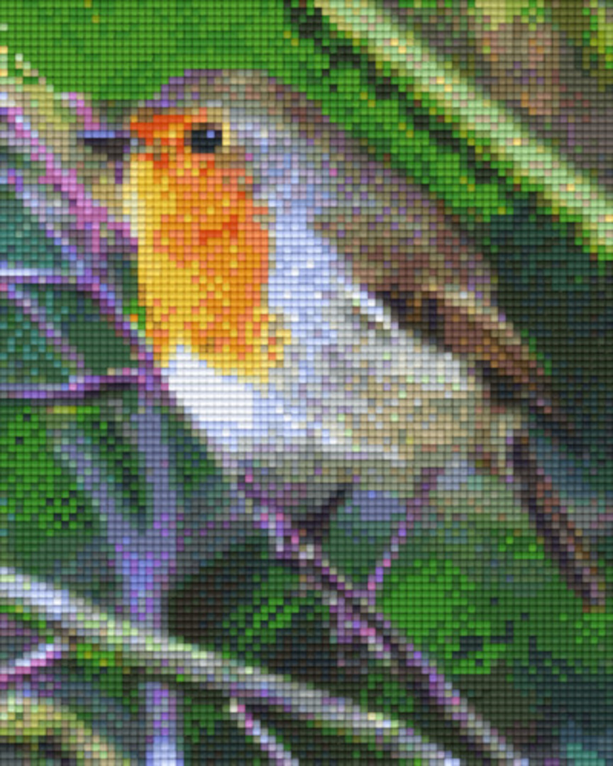 Yellow Robin Four [4] Baseplate PixelHobby Mini-mosaic Art Kits image 0