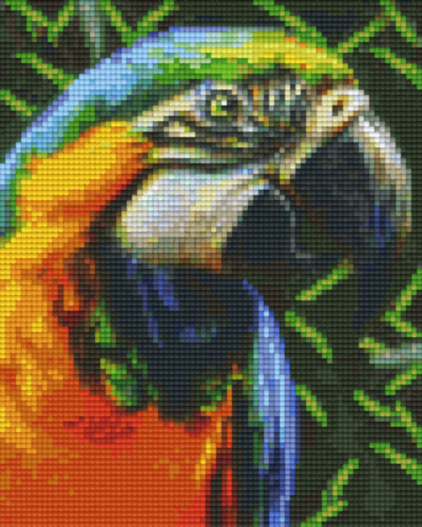 Colourful Parrot Four [4] Baseplate PixelHobby Mini-mosaic Art Kits image 0