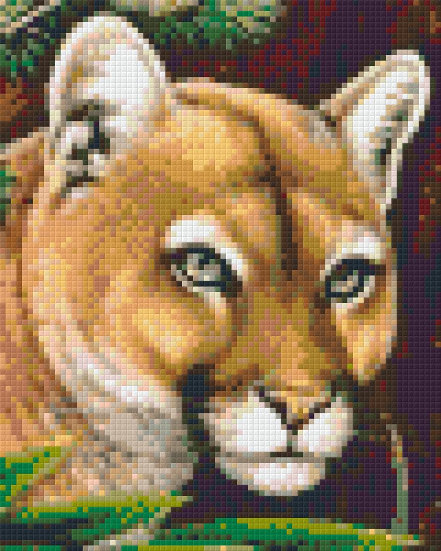 Puma Four [4] Baseplate PixelHobby Mini-mosaic Art Kits image 0