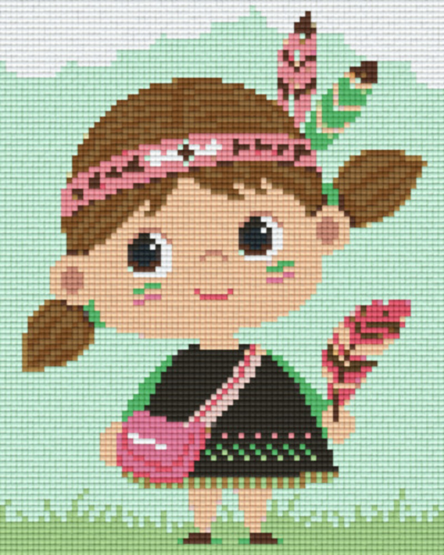 Little Indian Girl Four [4] Baseplatge PixelHobby Mini-mosaic Art Kits image 0