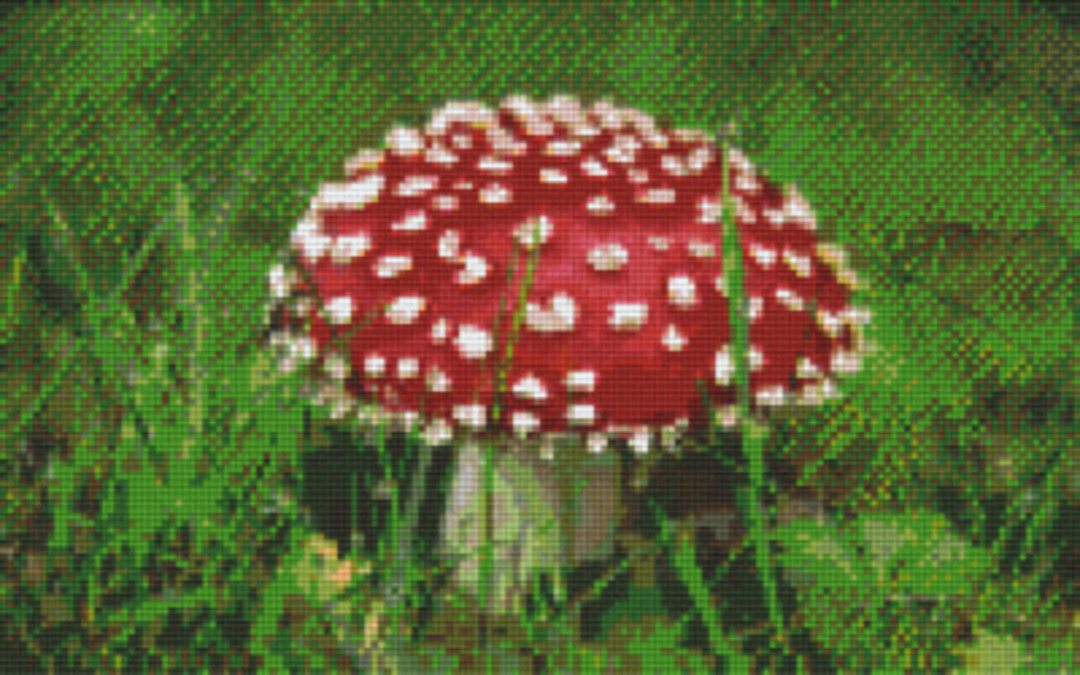 Mushroom Eight [8] Baseplate PixelHobby Mini-mosaic Art Kits image 0