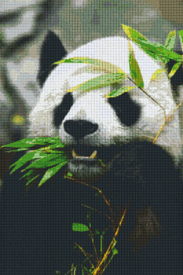 Panda Thirty [30] Baseplate PixelHobby Mini-mosaic Art Kits image 0