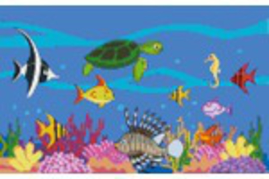 Sea Creatures Eight [8] Baseplate PixelHobby Mini-mosaic Art Kits image 0