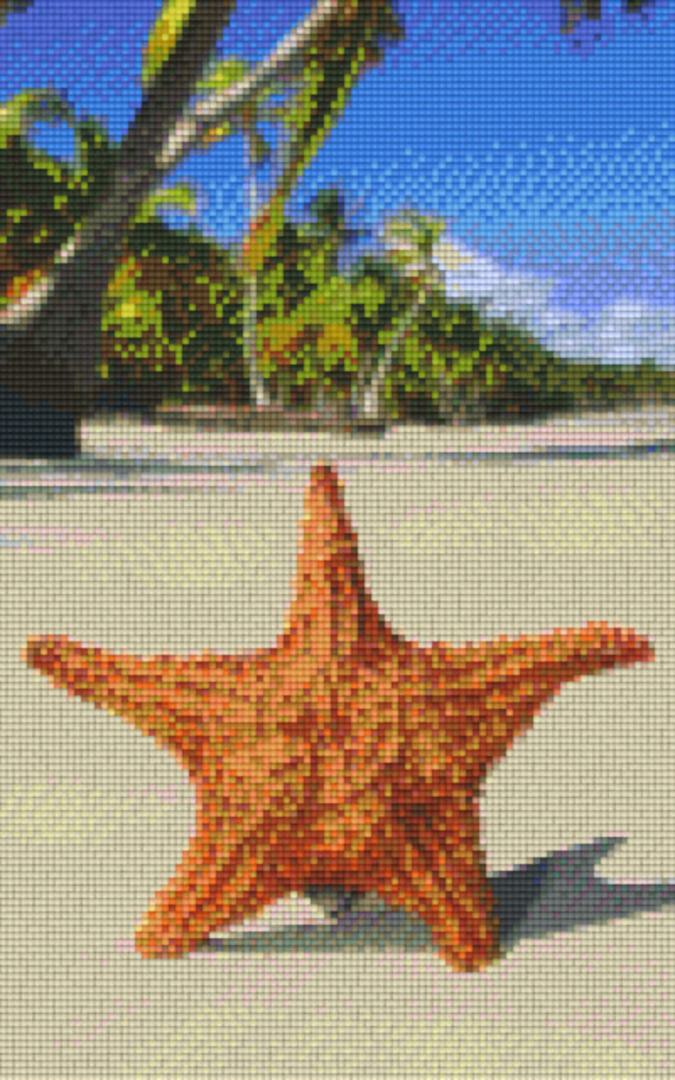 Starfish Eight [8] Baseplate PixelHobby Mini-mosaic Art Kits image 0