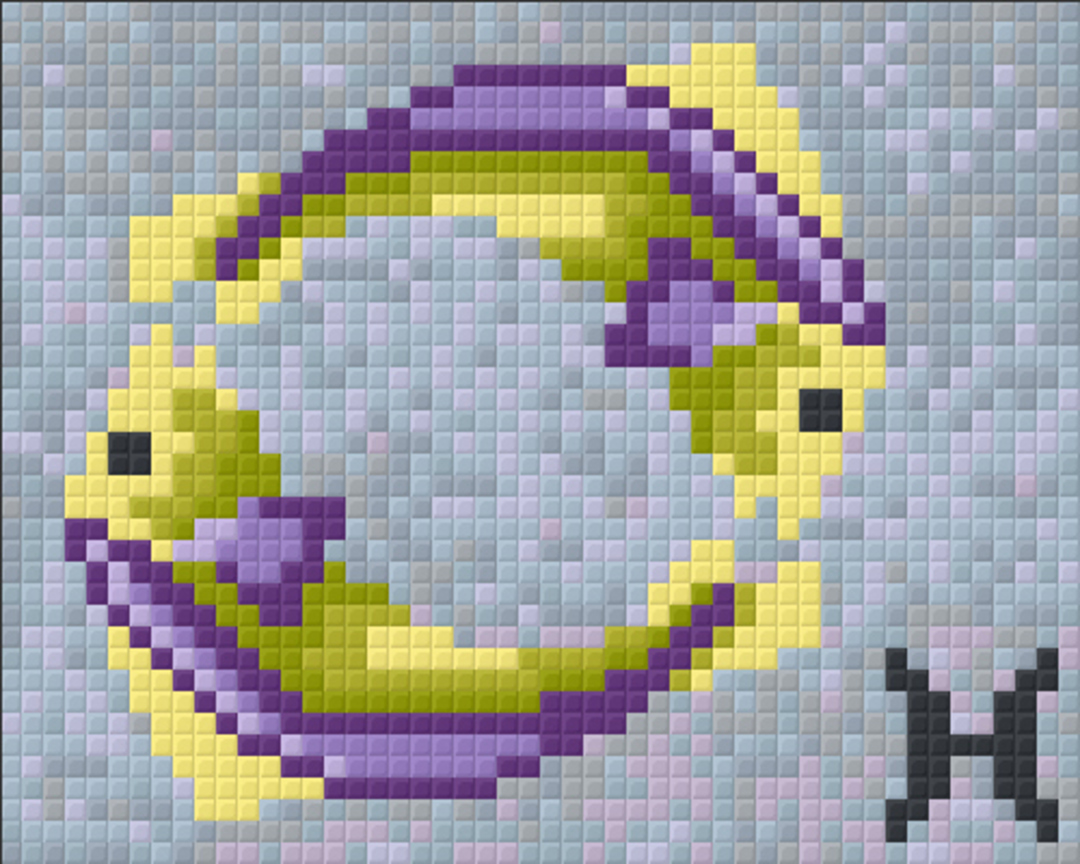 Pisces Zodiac Sign One [1] Baseplate PixelHobby Mini-mosaic Art Kits image 0