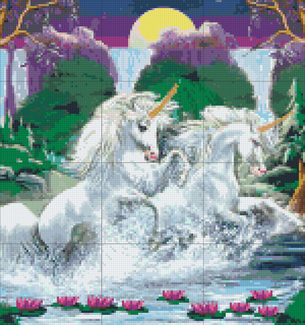 To Be A Unicorn Twelve [12] Baseplate PixelHobby Mini-mosaic Art Kit image 0