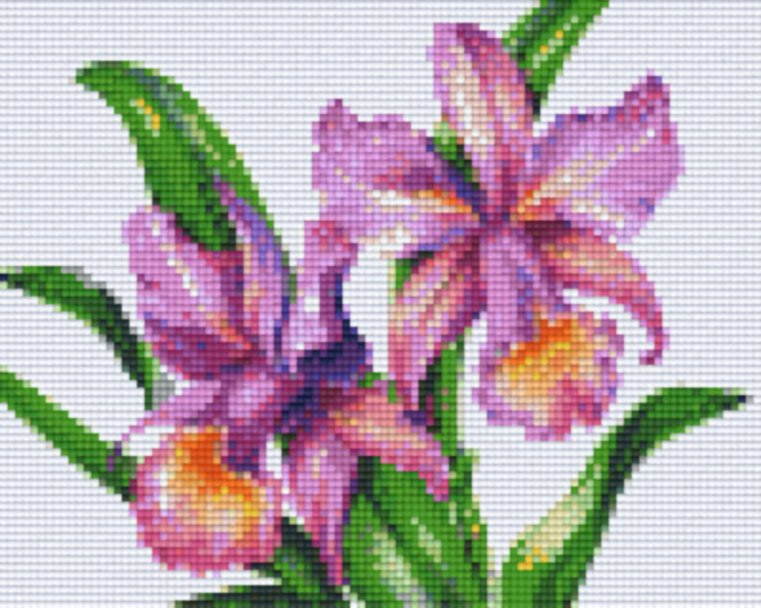 Purple Daffodils Four [4] Baseplate PixelHobby Mini-mosaic Art Kits image 0