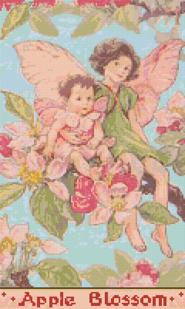 Apple Blossom Fairy Twelve [12] Baseplate PixelHobby Mini-mosaic Art Kit image 0