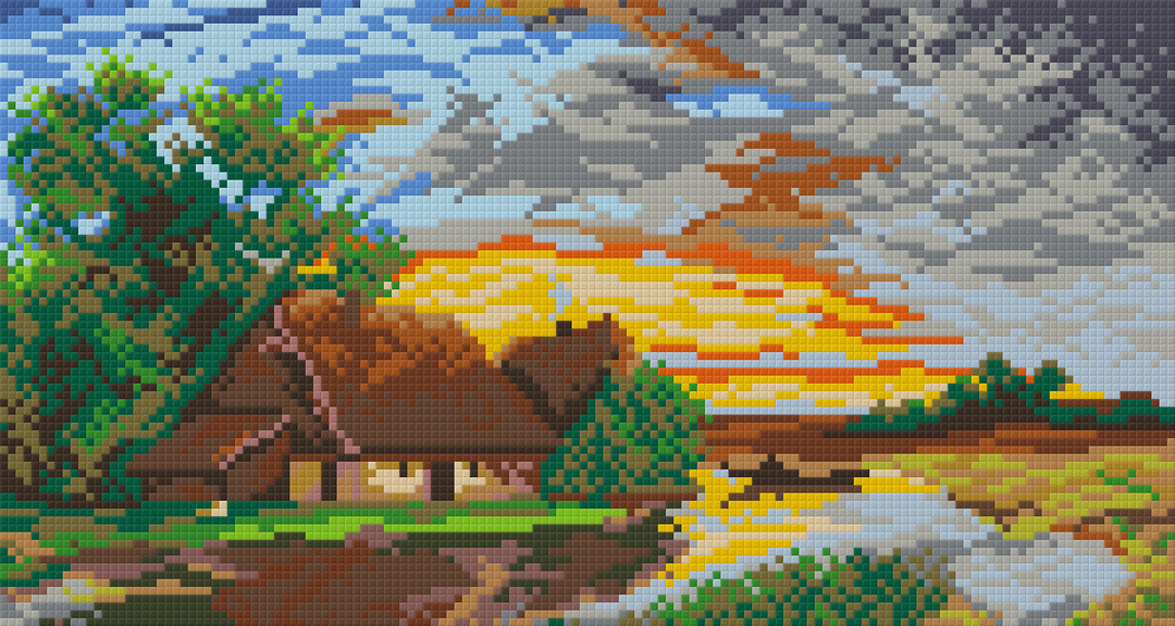 After The Rain Six [6] Baseplate PixelHobby Mini-mosaic Art Kits image 0