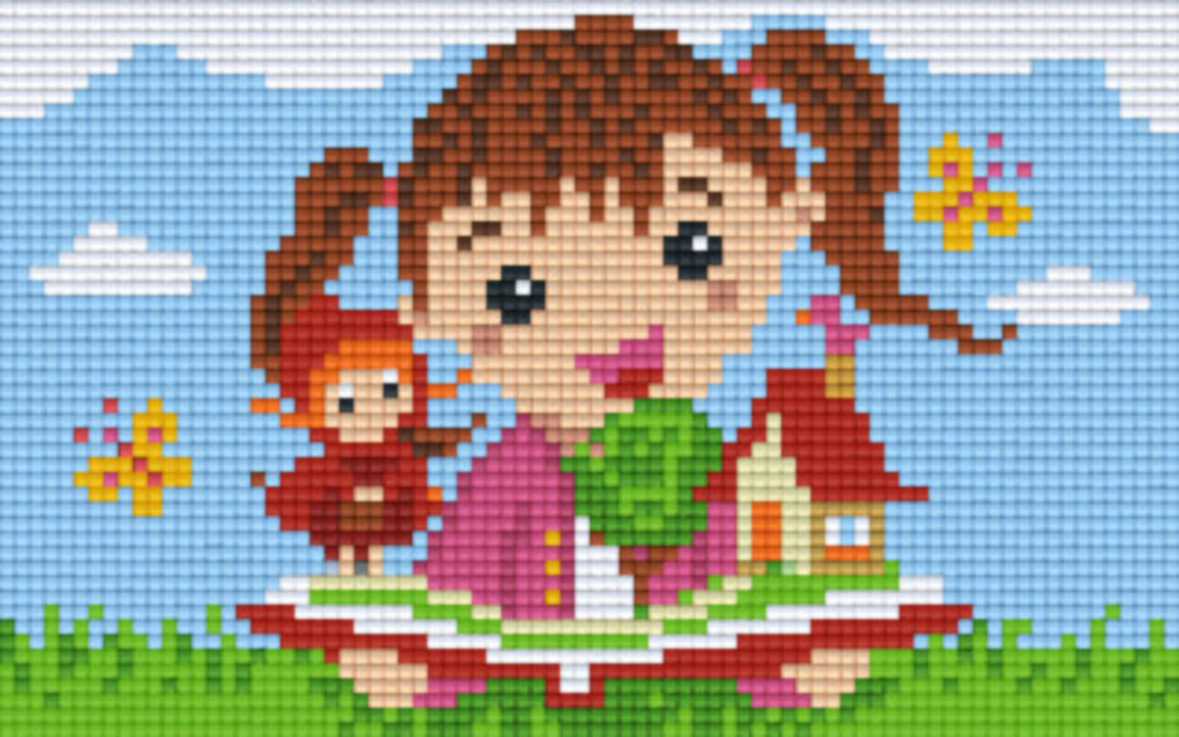 Reding Book Two [2] Baseplate PixelHobby Mini-mosaic Art Kits image 0