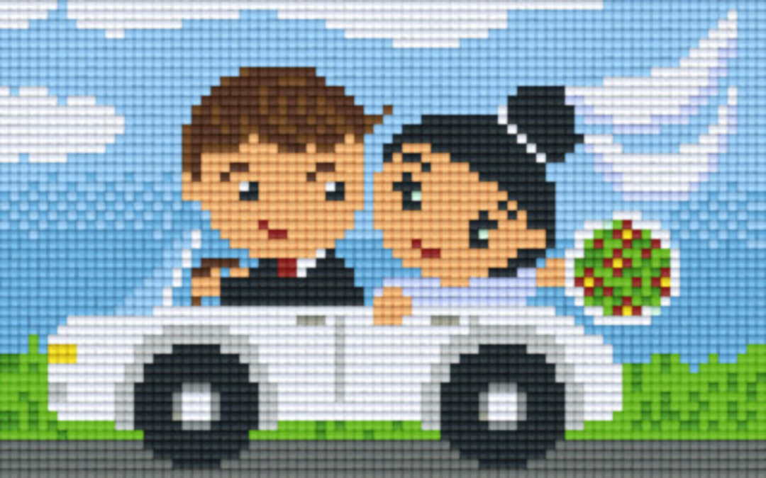 Just Married Two [2] Baseplate PixelHobby Mini-mosaic Art Kits image 0