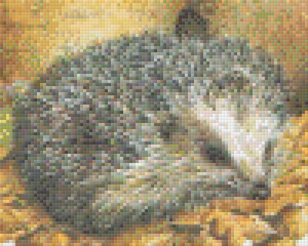 Hedgehog Four [4] Baseplate PixelHobby Mini-mosaic Art Kits image 0