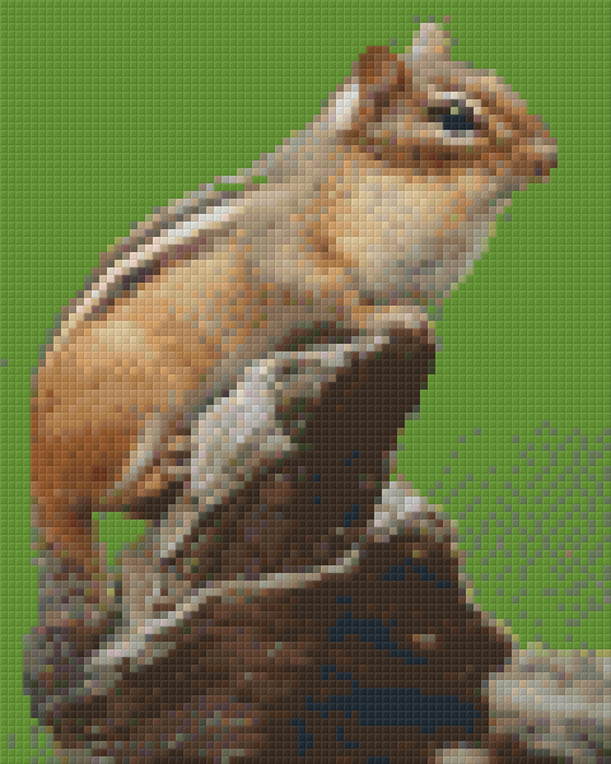 Squirrel Lookout Four [4] Baseplate PixelHobby Mini-mosaic Art Kits image 0