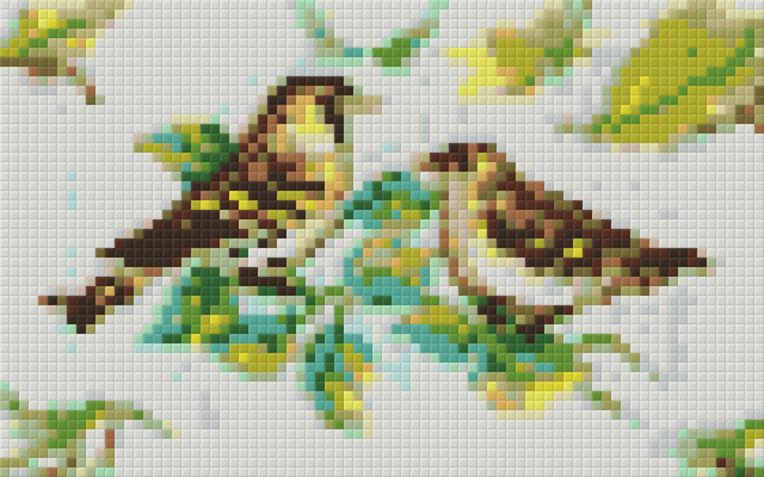Birds Two [2] Baseplate PixelHobby Mini-mosaic Art Kit image 0