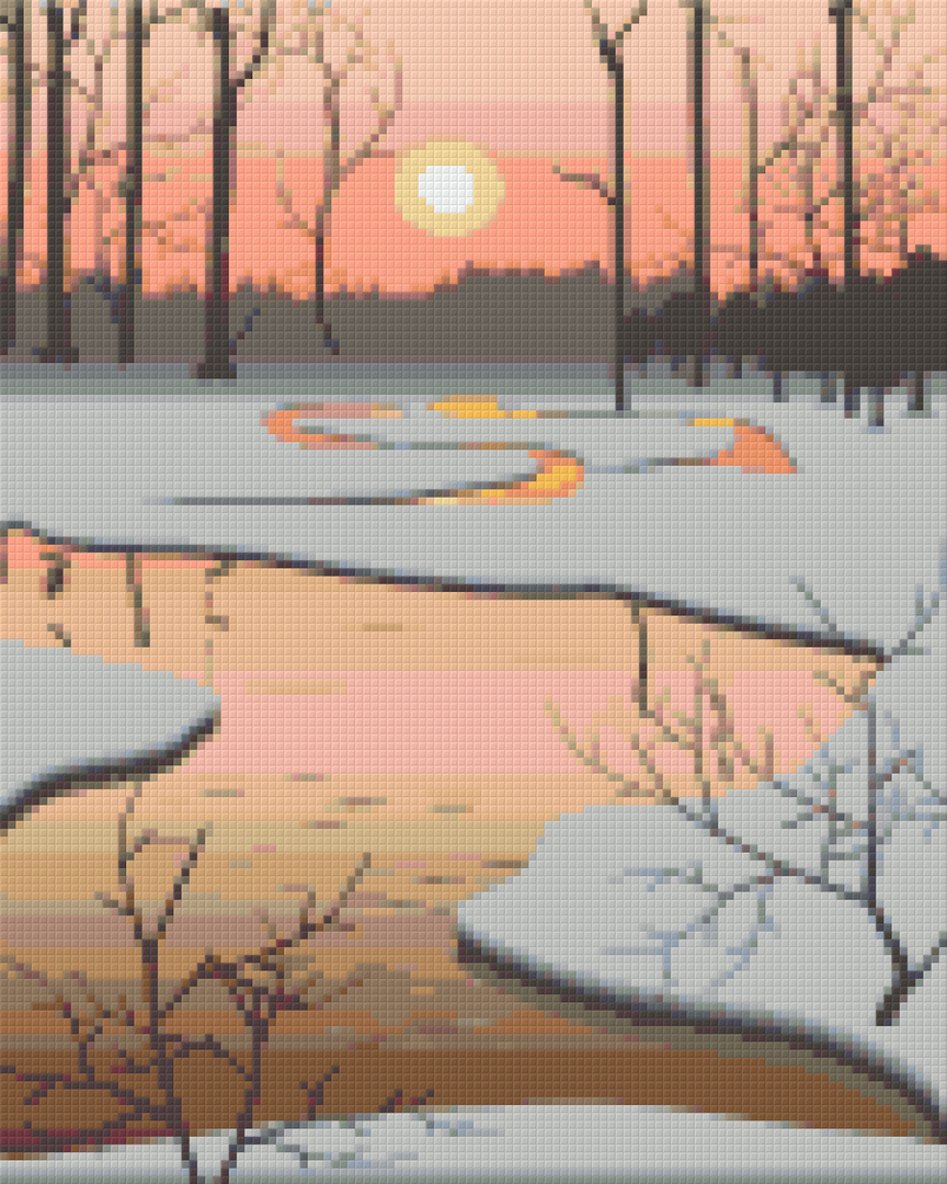 Icy Pond Nine [9] Baseplate PixelHobby Mini-mosaic Art Kits image 0