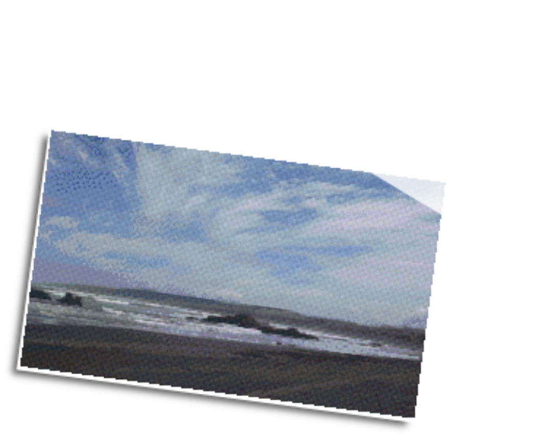 Cloudy Beach Twelve [12] Baseplate PixelHobby Mini-mosaic Art Kit image 0