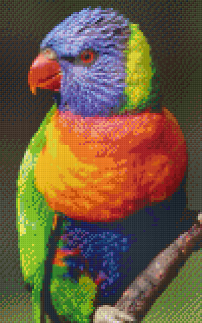 Parrot Eight [8] Baseplate PixelHobby Mini-mosaic Art Kits image 0