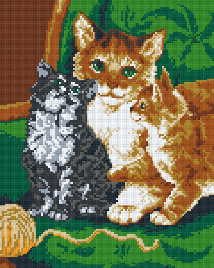 Cats Nine [9] Baseplate PixelHobby Mini-mosaic Art Kits image 0