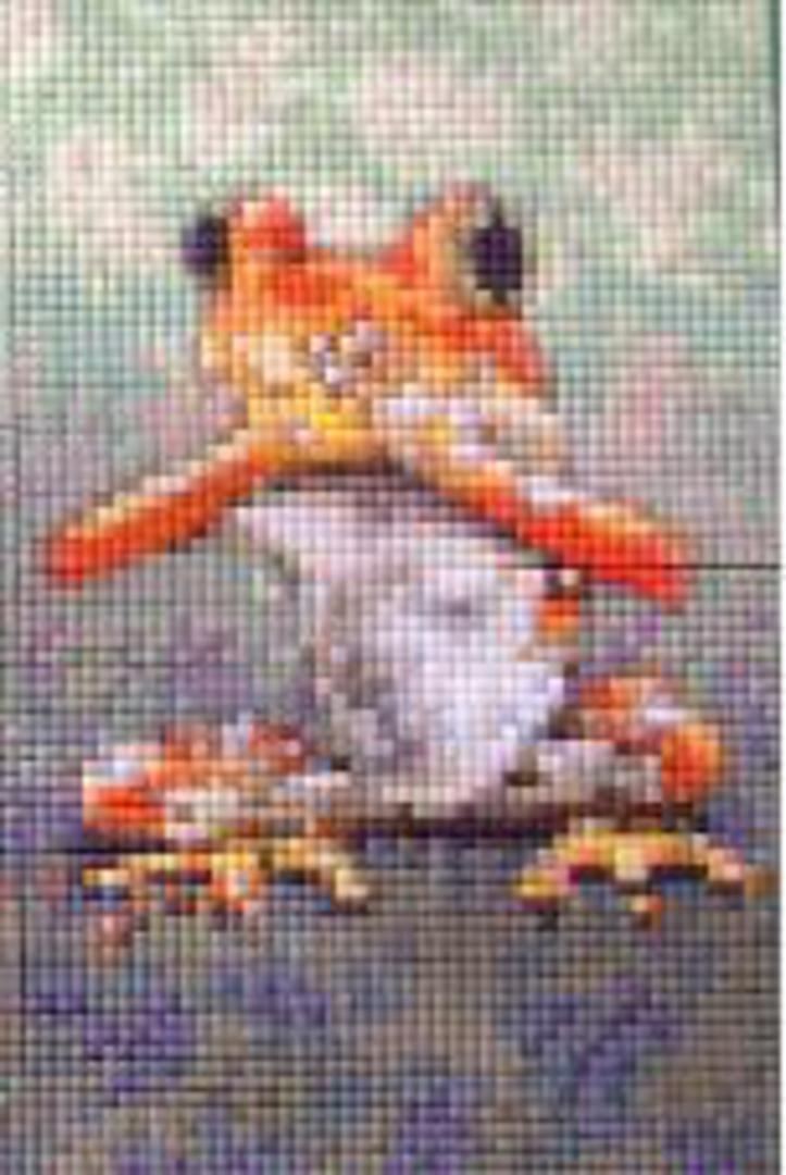 Speak No Evil Frog Two [2] Baseplate PixelHobby Mini-mosaic Art Kit image 0